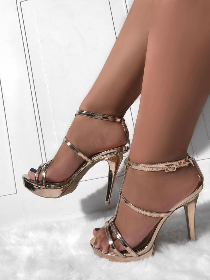 Sexy silver high heels