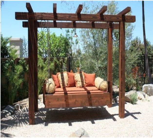 Arbor swing set plans woodworking projects plans for Swing set designs