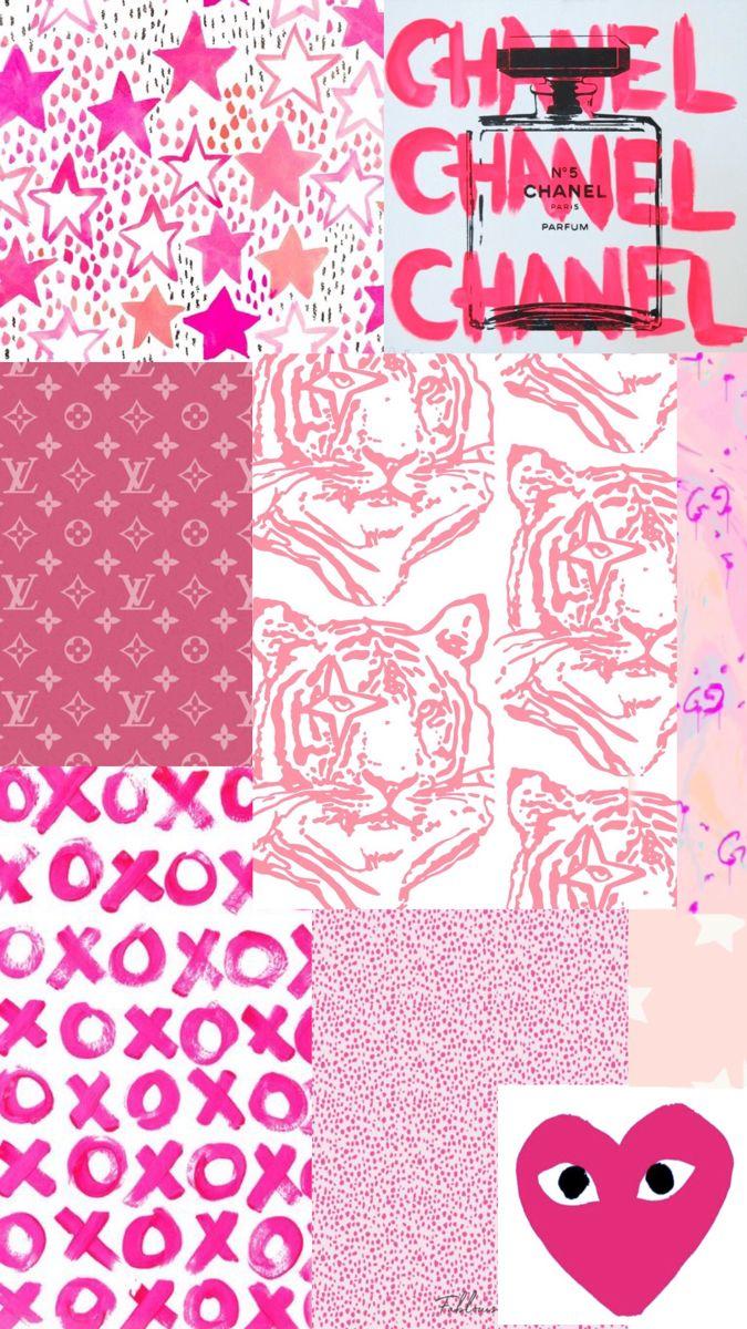 Pink Preppy Wallpaper Wall Collage Preppy Wallpaper Cute Patterns Wallpaper