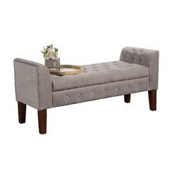 Set this tufted storage bench in the den to complete your seating group and stow media accessories, or let it define space at the foot of your bed.