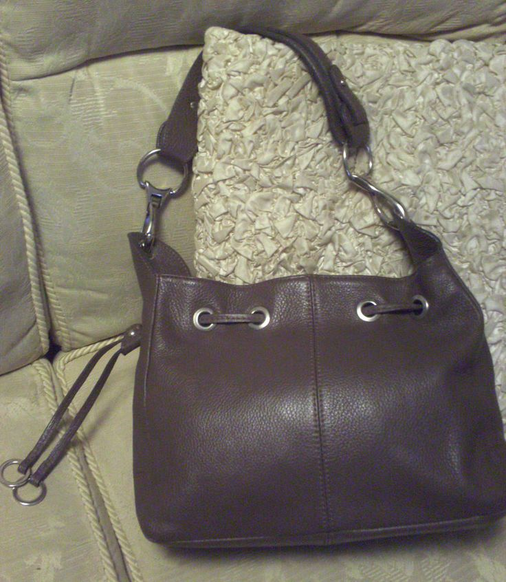 Borse In Pelle, Genuine Leather Handbag/Shoulder Bag, Zip Top, NEW