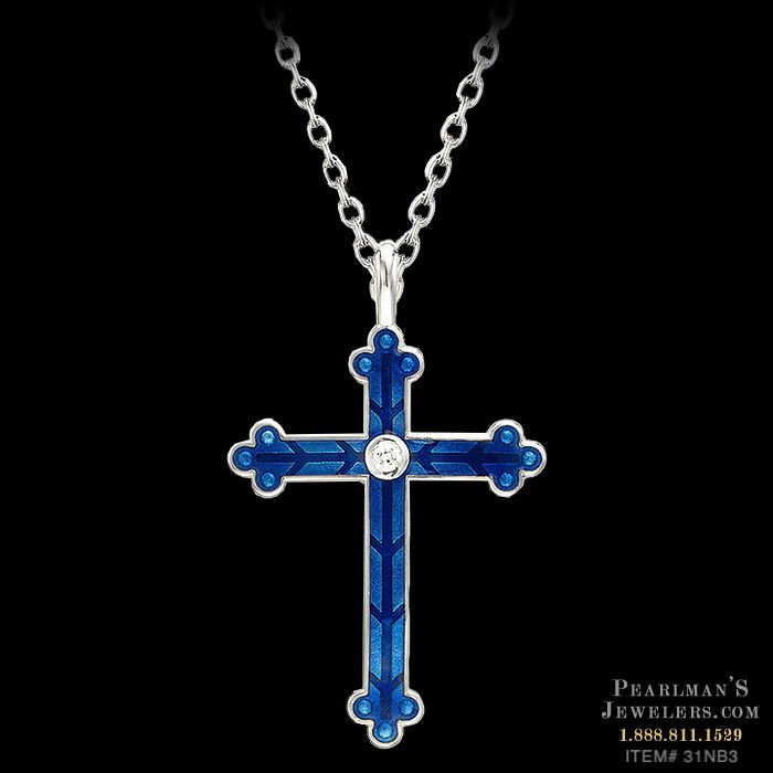 Turquoise /& Sterling Silver Cross Pendant W Clear Stones Great Piece! 1 18 X  1 12
