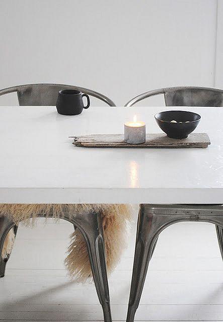 Urban home | home | minimalist decor | chairs | chrome | home decor | decor | dining | room | spaces | Scandinavian | interior design | Schomp MINI