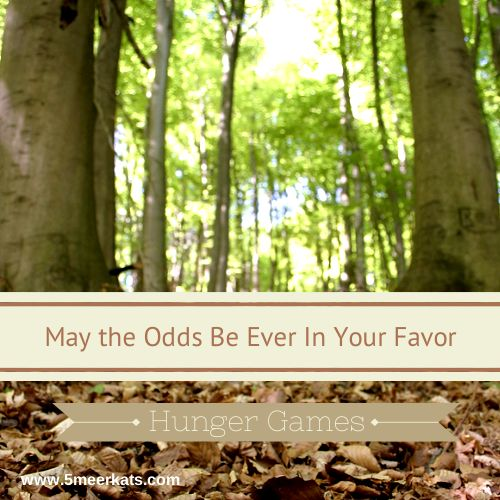 May The Odds Be Ever In Your Favor. #HungerGames