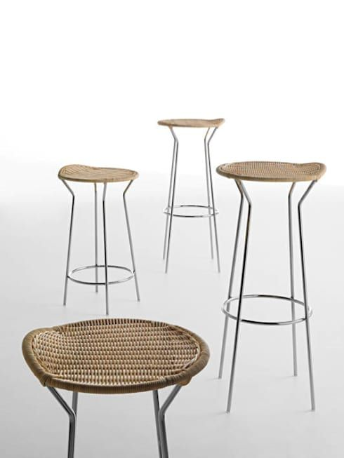 Bar Hocker aus Rattan von HORM.IT