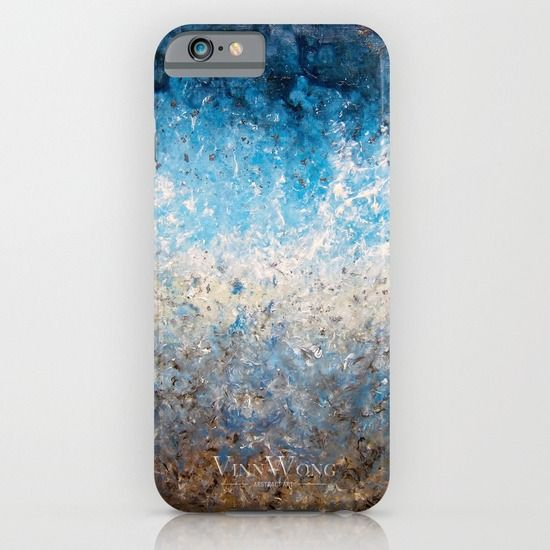 Blue crashing waves abstract phone case design for iPhone 6, iPhone 5S/C, iPod Touch, Galaxy s6/s5/s4 | International Shipping | Full collection www.vinnwong.com | Click to Shop or Pin it For Later!