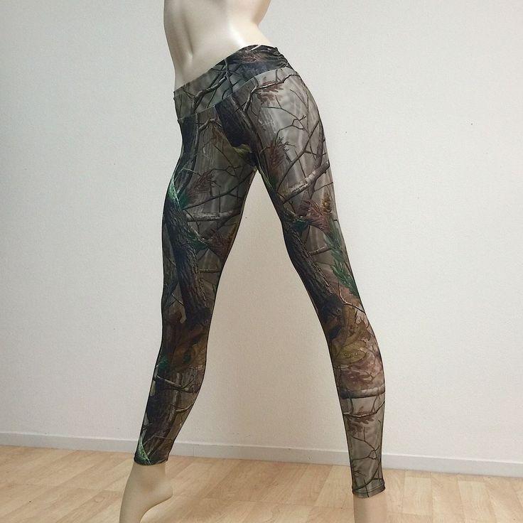 Camo Yoga Pants Camouflage Real Tree Workout Lounge Legging Handmade In Usa #yogaclothes