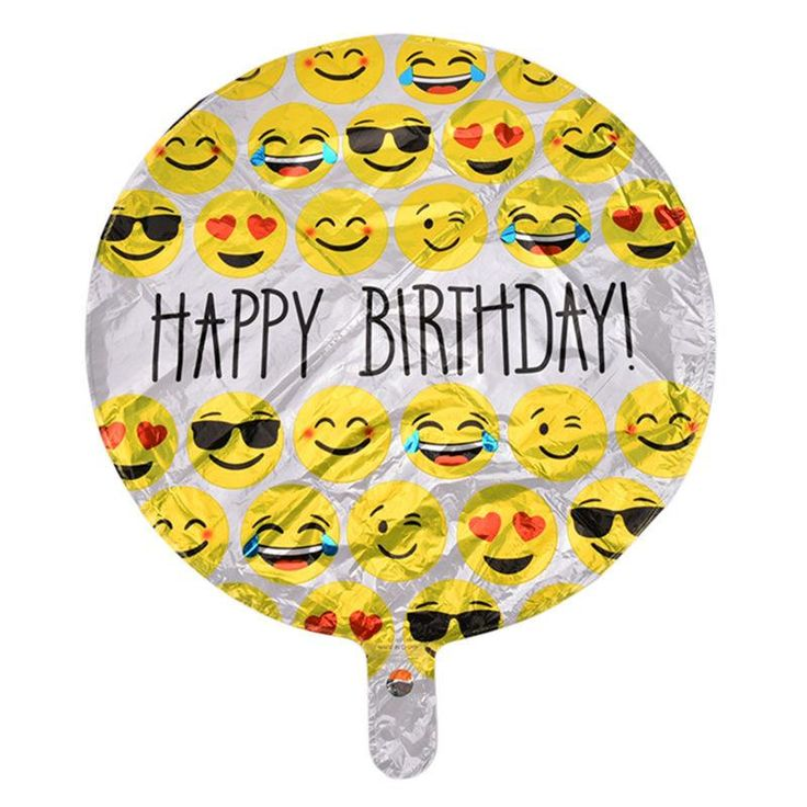Classic birthday decoration balloon happy birthday Emoji expression balloons foil ballon Inflatable Toys Kids Toys Gift