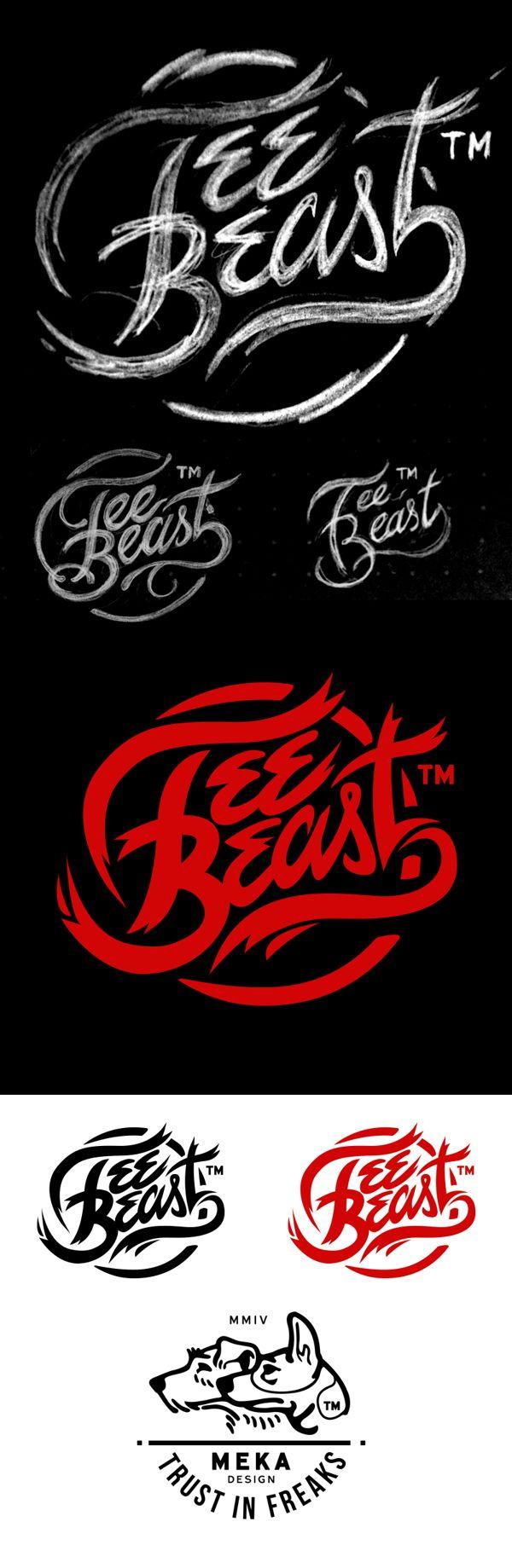typhography | tee beast logo design | by meka