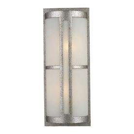 Westmore Lighting Trevot 21.5-In H Sunset Silver Led Outdoor Wall Light 42096/2-Led