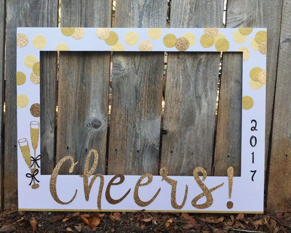 New Year\'s Eve Party giant photo booth frame HORIZONTAL - confetti ...