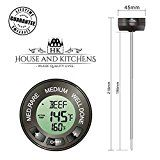 #3: Turkey and Holiday Roast Thermometer with 7 Meat Types Pre-Programmed Audible Temperature Alarm Long 8 inch Probe Grill Your Beef Poultry Pork Lamb and BBQ Brisket To Perfection