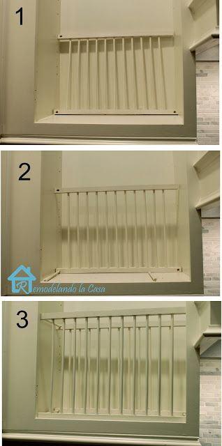 DIY - Inside Cabinet Plate Rack & 153 best Plate racks images on Pinterest | Dish racks Furniture and ...