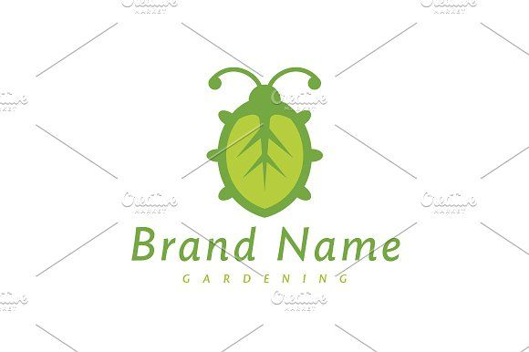 For sale. Only $29 - animal, bug, green, plant, ecology, leaf, life, natural, food, environment, farm, organic, diet, ladybug, grow, insect, antenna, beetle, vermin, pest, garden, gardening, edible, biotechnology, logo, design, template,