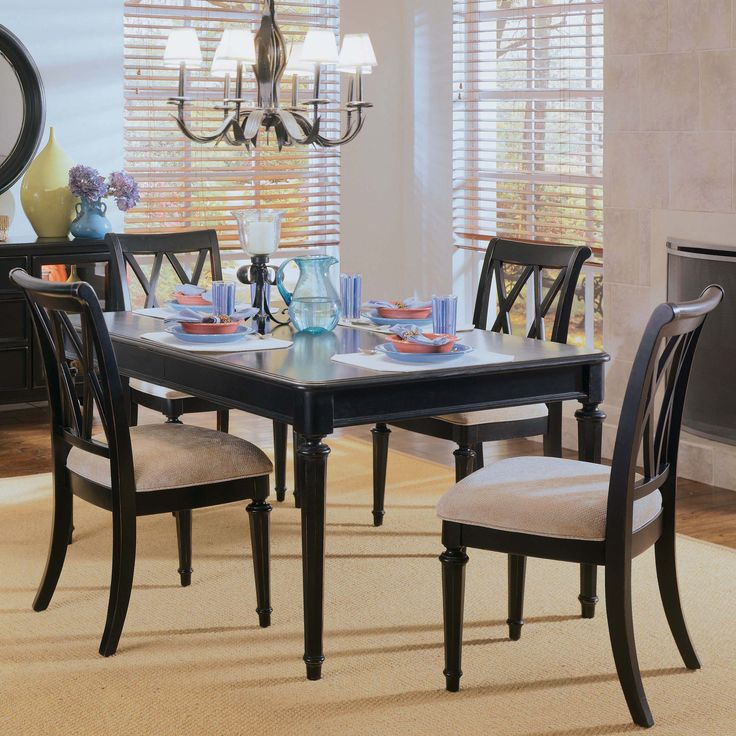 American Drew Camden Splat Back Dining Side Chairs