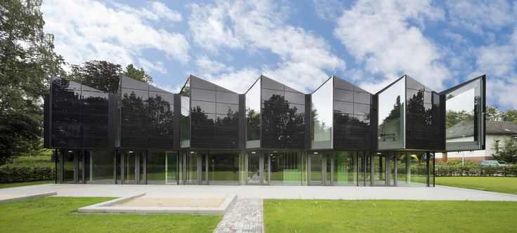 KITA Marburg (a daycare centre) in Germany, features a black homogenous photovoltaic façade and roof . The design was achieved with a certified ink technology which covers the reflective soldering tapes. 52 kW installed power will generate approximately 50.000 kWh per year which covers nearly 50% of the energy demand.