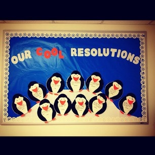January/New Year's Resolutions Bulletin Board!