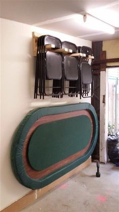 Scrap Wood to Hanging Chair Rack for poker night in the Garage