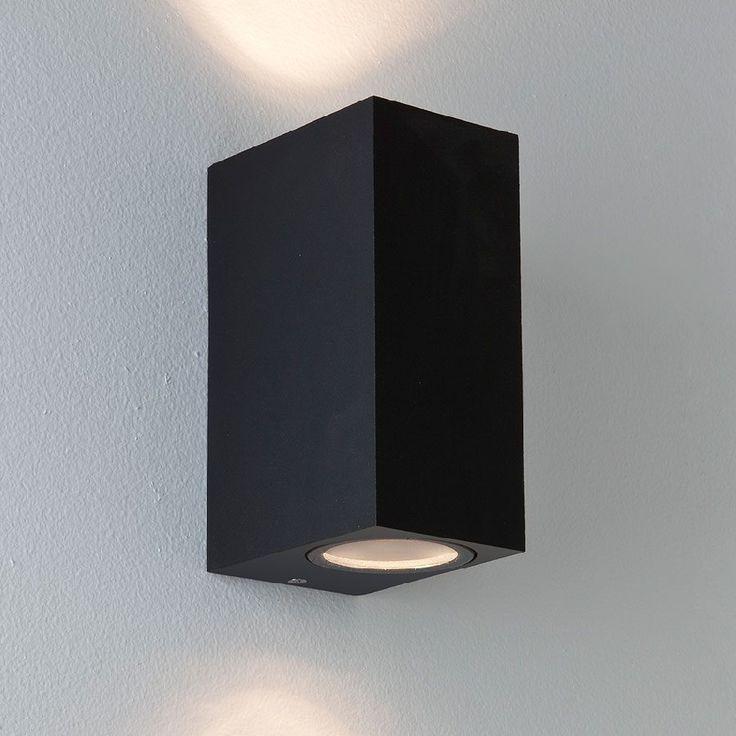 Chios 150 Vegglampe Sort-0