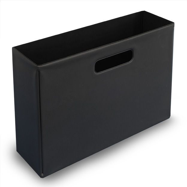 ファイルボックス(ブラック)【monotone モノトーン 白黒 ケース 書類 収納 日用品 雑貨 インテリア シンプル】