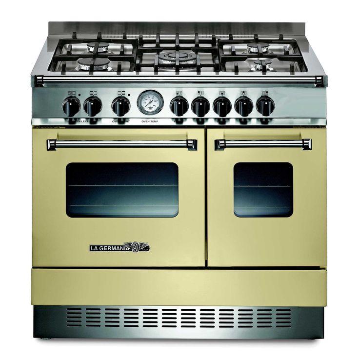 Piano de cuisson 5 feux gaz largeur 90 cm double fours exd5c61 pro americana - Plaque de cuisson gaz 5 feux 90 cm ...