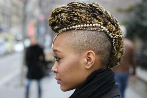 half shaved head braid - Google Search