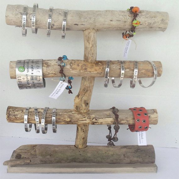 Natural Driftwood Jewelry Display by cocoblack on Etsy, $45.00