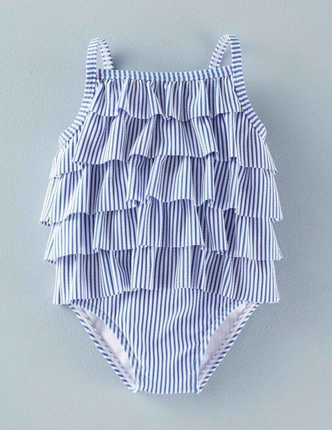 Baby Girl Swimsuit Retro Ruffle Swimsuit 71501 Swimsuits and Bathers at Boden