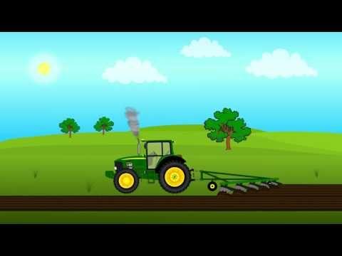 Машинки  Трактор  Развивающий мультик