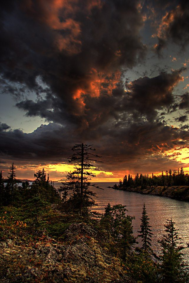 Isle Royale National Park is in northern Michigan on Lake Superior, near the Canadian border, with great hiking and kayaking. Description from matadornetwork.com. I searched for this on bing.com/images