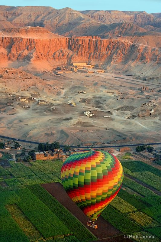 Sunrise Over the Mortuary Temple of Queen Hatshepsut, Luxor, Egypt: Queen Hatshepsut, Temples, Mortuary Temple, Sunrises, Queens, Luxor Egypt, Hot Air Balloons, Place
