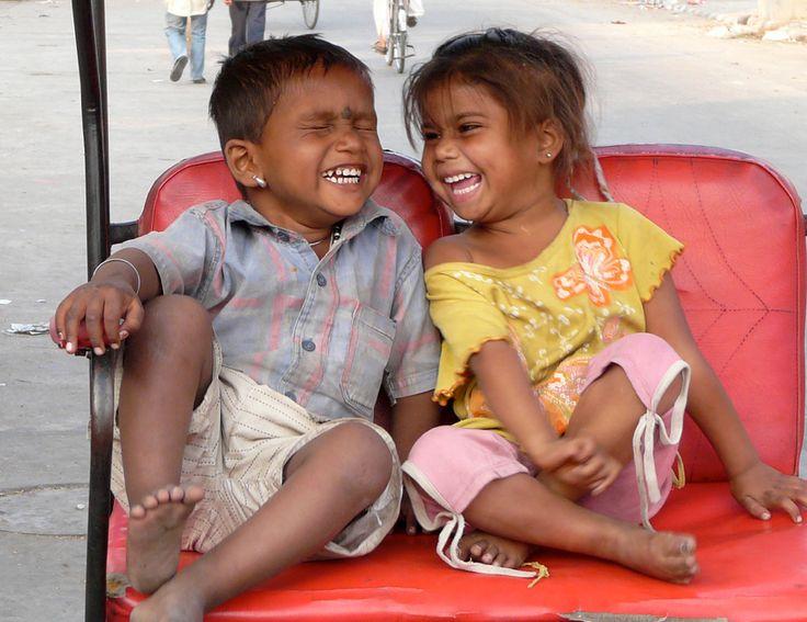 Children of the world. Smiling.
