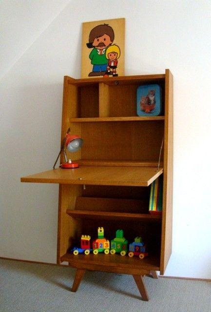 Petit secr taire enfant vintage design pinterest for Petit bureau secretaire
