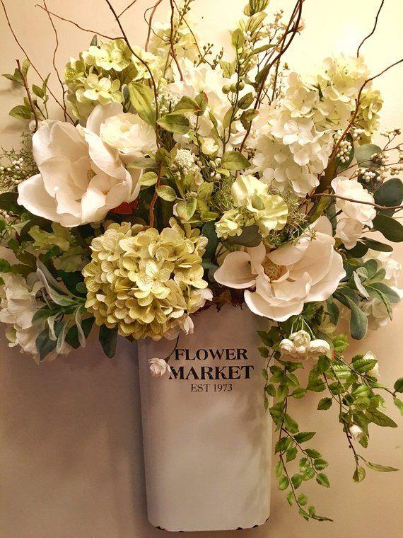 Large Designer Farmhouse Floral Wall Arrangement French Vintage Farmhouse Door Decor – Products