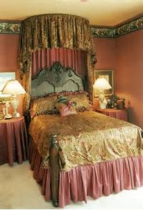 Antique Victorian Half Tester Canopy Bed