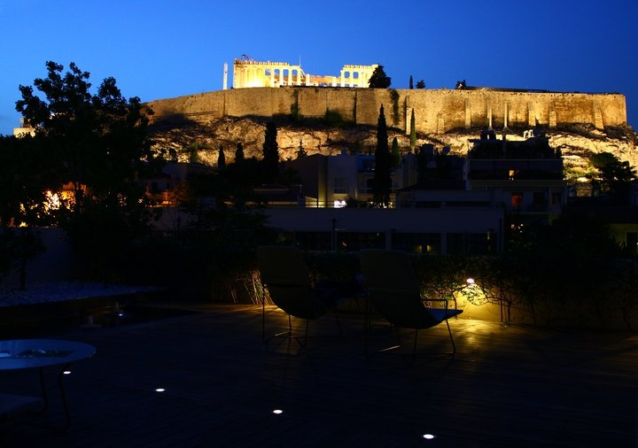 The #Parthenon is a temple on the Athenian #Acropolis. That's a breathtaking view from #Herodion Hotel's roof garden!
