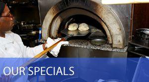 Assaggi Bistro - Ferndale; Porcini Seared Day Boat Scallops wild mushroom risotto, Sautéed Chicken Francese
