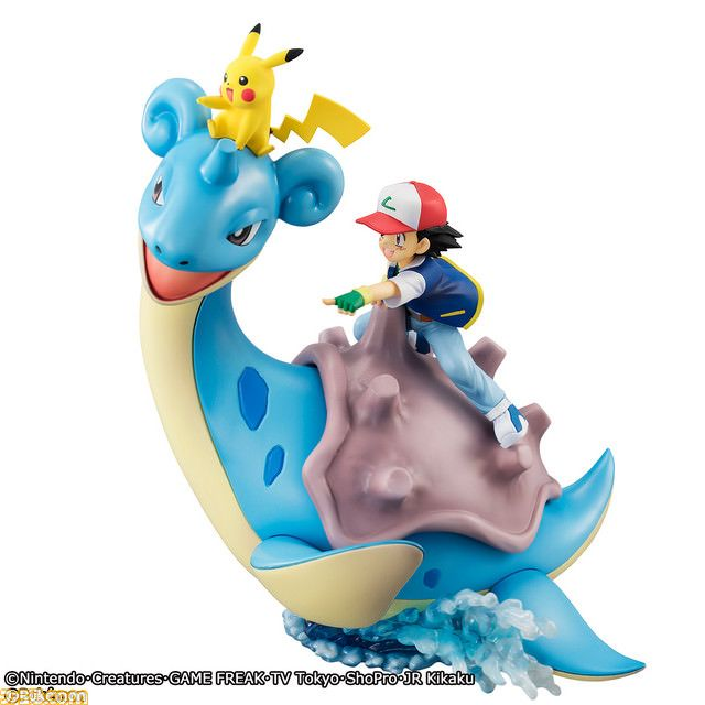 GEM Pokemon Series - new figurine featuring Ash Pikachu & Lapras coming in February 2018   Bandai has announced a brand new figurine in their GEM Pokemon Series. This one will feature Ash and Pikachu on the back of a Lapras. In Japan the figurine is scheduled for a February 2018 release and will cost 9990 yen.  More pictures here!  from GoNintendo Video Games