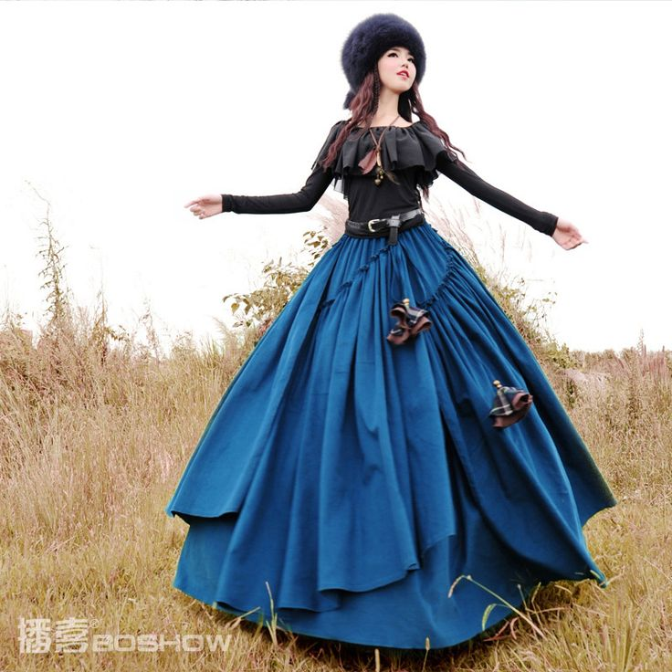 Fashion Long Thicken Cotton Skirts Winter Skirt
