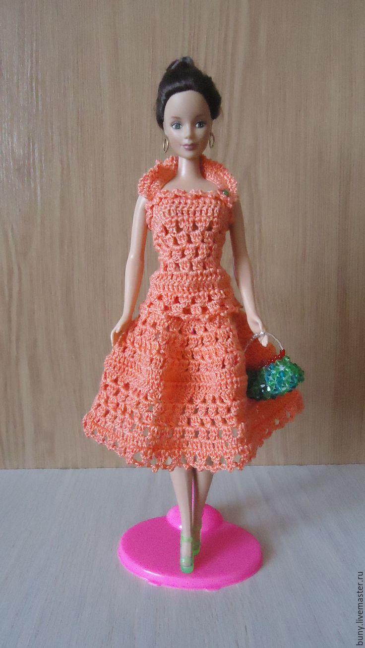 Купить Летний костюм - рыжий, одежда для кукол, кукольная одежда, одежда для барби, кукольные наряды