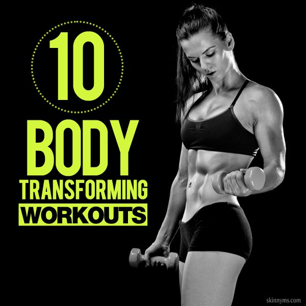 10 Body Transforming Workouts--from strength training to cardio, we've got a stockpile!  #totalbody #transformation #workouts #skinnyms