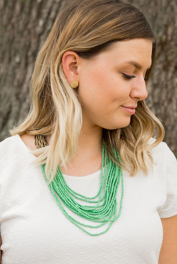 Carmela Studs + Mediterranean Strands Necklace = The perfect pairing! Contact me to learn about our BOGO Deal for July 2017! Http://www.mytradesofhope.com/diannefisher
