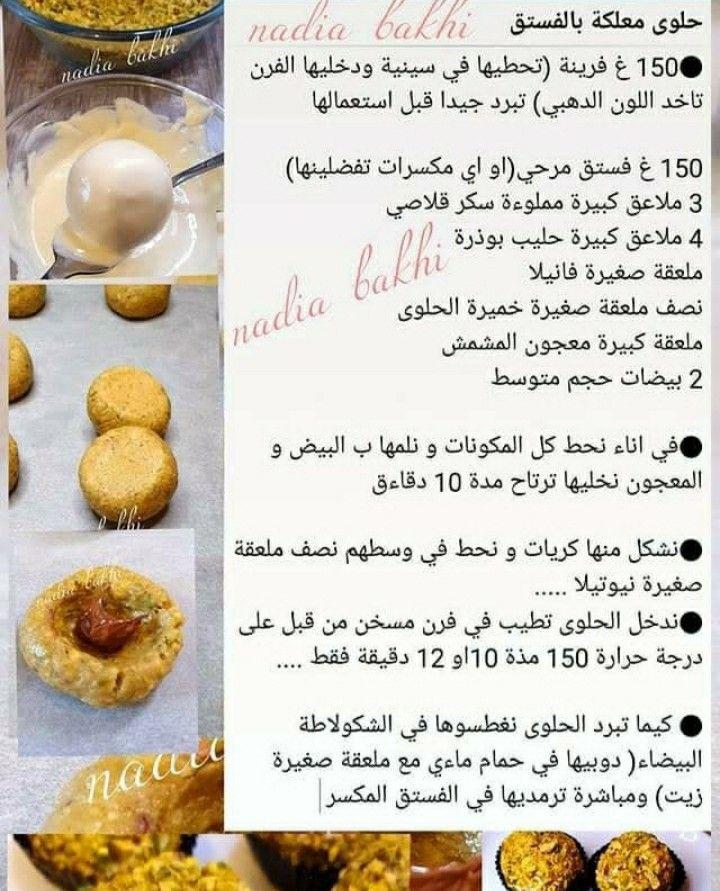حلوى معلكة بالفستق صورة ١ Food Desserts Fruit