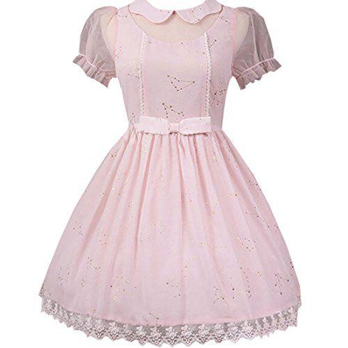 Partiss Women's Sweet Bow Lace Harajuku Lolita Dress,XS,Pink Partiss http://www.amazon.com/dp/B01CS7S2NE/ref=cm_sw_r_pi_dp_RpI5wb1CBHG74