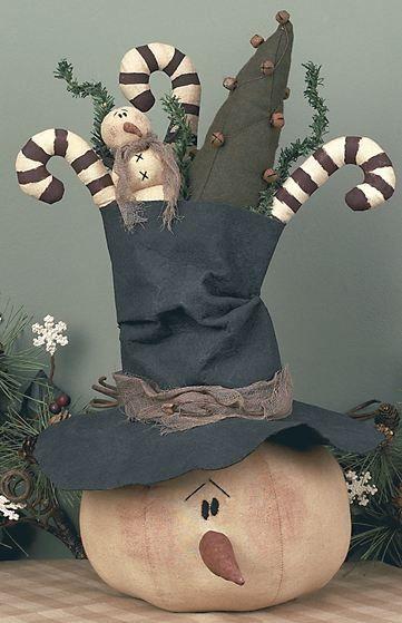 Round Snowman Goodie Hat