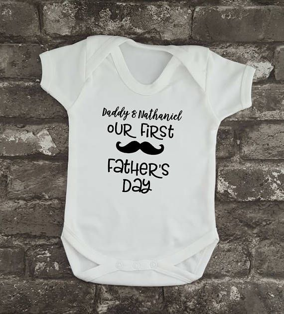 First Father's Day Baby Grow Hipster Personalised Baby
