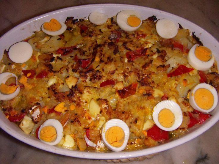 Cozinha com Graça: Bacalhau no forno com pimentos vermelhos
