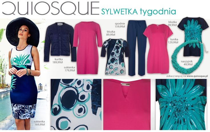 #quiosquepl #sylwetkatygodnia #fashion #inspirations #QSQ #outfit #look #spring #wear #new #collection #ss15 #MustHave #dress #jacket #trousers #necklace #fuchsia