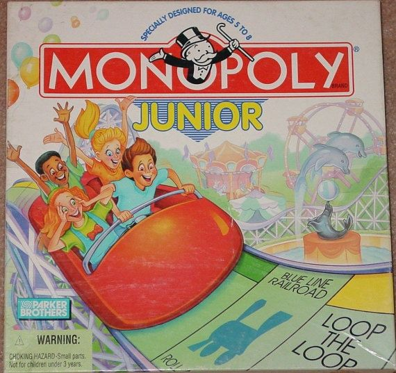 Vintage c.1996 Monopoly Junior Amusement Park by BuyfromGroovy