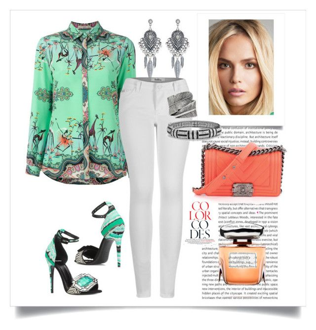 Beautiful day in a turquoise shirt by martika-1976 on Polyvore featuring moda, Etro, 2LUV, Pierre Hardy, Chanel, Accessorize, Bling Jewelry, Decree, Terry de Gunzburg and Summer